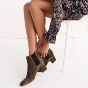 Madewell Walker Chelsea Boots Suede Sz 7